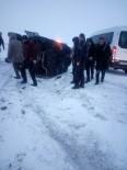 ZIRHLI ARAÇ - Erzurum'da Zırhlı Polis Aracı Kaza Yaptı Açıklaması 3 Yaralı