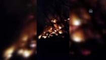 BELEVI - Yangında Mahsur Kalan Ev Sahibini Komşuları Kurtardı