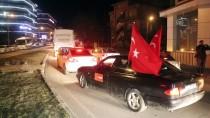 ARAÇ KONVOYU - Bolu'da Sürücülerden Zeytin Dalı Harekatı'na Destek