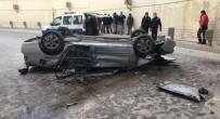 KURTKÖY - Kontrolden Çıkan Araç 5 Metreden Aşağıya Düştü Açıklaması 1 Yaralı