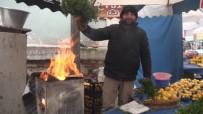 PAZAR ESNAFI - Pazarcıların Zorlu Kış Şartları