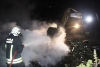 AKÇAALAN - Çöpler Alev Aldı, Ekipler Söndürmekte Zorlandı