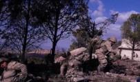 Burseya Dağı'ndaki mevziler görüntülendi