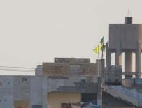 HÜRRİYET MAHALLESİ - Tel Abyad'a PYD/YPG sözde flamaları asıldı