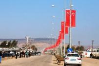 ZIRHLI ARAÇLAR - Öncüpınar'da Türk Bayraklı Destek