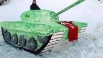 İBRAHİM KURT - Afrin Operasyonu'na Destek İçin Kardan Tank Yaptılar