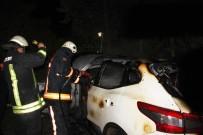 KARAKÖPRÜ - Park Halindeki Araç Yandı, Alevleri Bir Otomobile Ve Ağaçlara Sıçradı