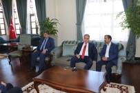 KİLİS VALİSİ - Sağlık-Sen Genel Başkanı Memiş, Vali Tekinarslan'ı Ziyaret Etti