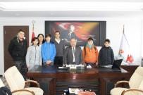 BOLAT - Bisiklet Turuna Katılan Öğrencilerden İl Müdürü Bolat'a Ziyaret