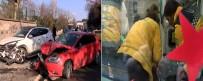ÇENGELKÖY - Otomobil Yayaya Ve İki Araca Çarptı