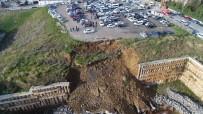 İSTİNAT DUVARI - (Özel) Ataşehir'deki Toprak Kaymasının Olduğu Alan Havadan Görüntülendi