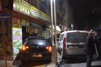 Polis Otosuyla Çarpışan Araç Şarküteriye Girdi