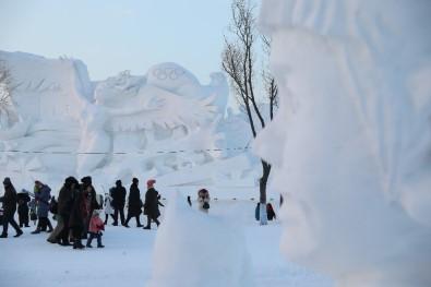 Çin'de Harbin Uluslararası Buz Ve Kar Heykel Festivali