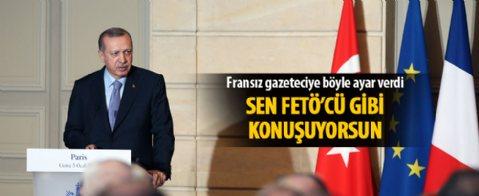 Erdoğan'dan provokatör muhabire ayar ile ilgili görsel sonucu