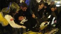 ELEKTRİKLİ BİSİKLET - Otomobilin Çarptığı Elektrikli Bisiklet Sürücüsü Yaralandı