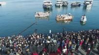 DIŞİŞLERİ BAKAN YARDIMCISI - Balat'ta Denizden Haç Çıkarma Töreni Havadan Görüntülendi