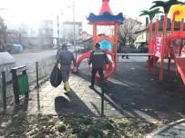 VUSLAT - Beyşehir'de Parklarda Temizlik Çalışmaları Sürüyor