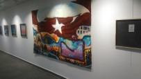 ŞEHİT YAKINI - 15 Temmuz'u Resmettiği Eserleri Samsunspor İçin Satışa Çıkardı