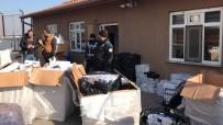 TEKSTİL MALZEMESİ - Aksaray'da 23 Bin 200 Paket Kaçak Sigara Ele Geçirildi