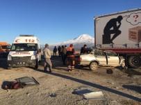 GÜRBULAK - Doğubayazıt'ta Trafik Kazası Açıklaması 1 Ölü