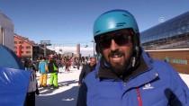 BEĞENDIK - Palandöken'de Güneşli Havada Kayak Keyfi