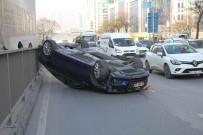 BÜYÜKDERE - Maslak'ta Lüks Otomobil Takla Attı Açıklaması 1 Yaralı
