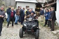AKMEŞE - Başkan Doğan,  60 Yaşındaki Engelli Vatandaşa ATV Aracı Hediye Etti