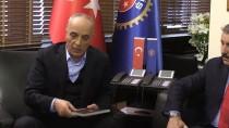 İŞ GÜVENLİĞİ - Destici, Türk-İş'i Ziyaret Etti