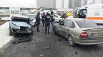 MUHSİN YAZICIOĞLU - Direksiyon Hakimiyeti Kaybolan Otomobil Otoparka Uçtu
