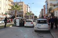 ÇETİN EMEÇ - Manavgat'ta Cipin Çarptığı Araç Devrildi Açıklaması 2 Yaralı