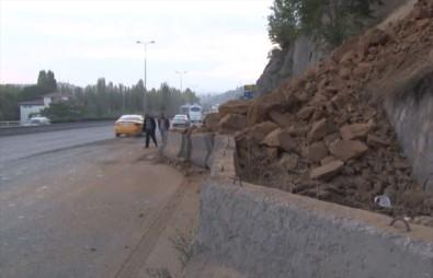 Ankara'da toprak kayması
