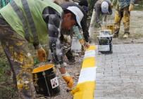 ŞENYURT - Başiskele'de Kaldırım Bordürleri Boyanıyor