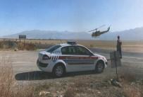 HATALı SOLLAMA - Jandarma Helikopter İle Trafik Denetimi Yaptı