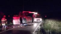 İSTANBUL YOLU - Otomobil Takla Attı Açıklaması 3 Yaralı