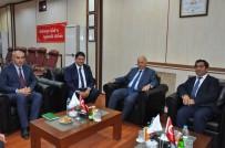 ERZURUM VALISI - Vali Azizoğlu'ndan, ETB Başkanı Oral'a Hayırlı Olsun Ziyareti