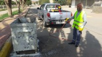 Bismil'de Çöp Konteynerleri Dezenfekte Ediliyor