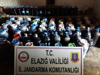 Elazığ'da 6 Ton Kaçak Şarap Ele Geçirildi