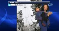 HAVA DURUMU - Hava Durumunu Çocuğuyla Birlikte Sundu