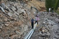 ŞEBEKE HATTI - Kaymakam Alibeyoğlu'dan Su Şebeke Hattında İnceleme