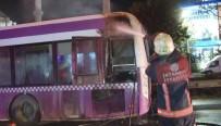 BELEDIYE OTOBÜSÜ - TEM Otoyolunda Korkutan Otobüs Yangını