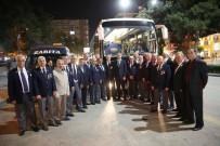 GAZİLER DERNEĞİ - Elazığlı Kıbrıs Gazileri, Kıbrıs'a Uğurlandı