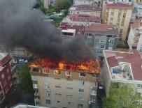 BİNA YANGINI - İstanbul'da çatı yangını
