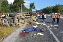 KORUCUK - Milas'ta Kamyonet Kayganlaşan Yolda Kontrolden Çıktı Açıklaması 1 Ölü, 1 Yaralı