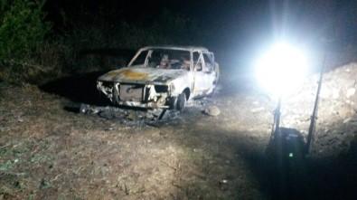 Aydın'da Araç İçerisinde Yanmış Ceset Bulundu