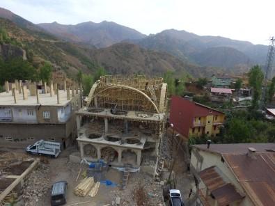 Beytüşşebap'ta Ulu Cami İnşaatı Tüm Hızıyla Devam Ediyor