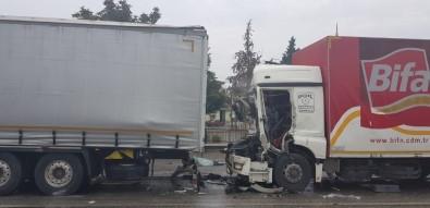 Kazada Yaralanan Tır Sürücüsü Hayatını Kaybetti