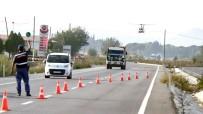 TRAFİK KURALLARI - Manisa'da Jandarmadan Helikopter Destekli Trafik Denetimi