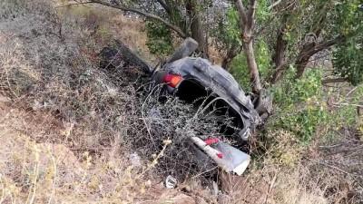 Sivas'ta Otomobil Şarampole Devrildi Açıklaması 6 Yaralı