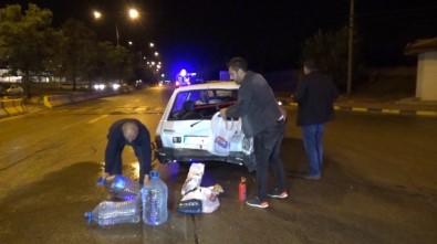 Kavşakta 2 Otomobil Çarpıştı Açıklaması 3 Yaralı