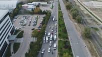 ŞERİT İHLALİ - Sürücüler Drone Uygulamasından Kaçamadı